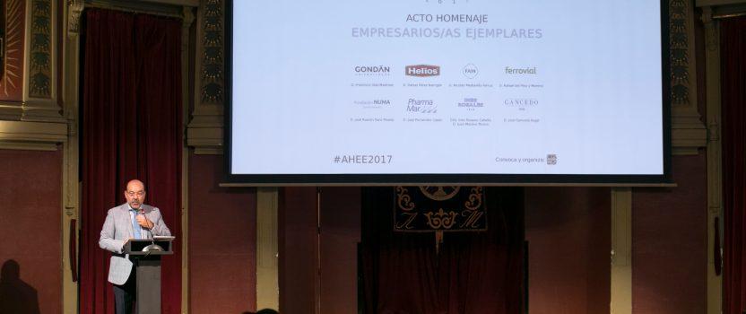 AHEE2017, emotivo homenaje a empresarios ejemplares